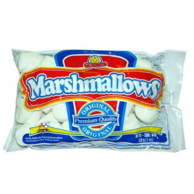 Фото упаковки маршмеллоу Guandy классический (White Americans Regular) премиум формула 200г