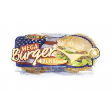Булочки для мега бургера Quickbury (Mega Burger Buns) с кунжутом 4шт х 75г 300г