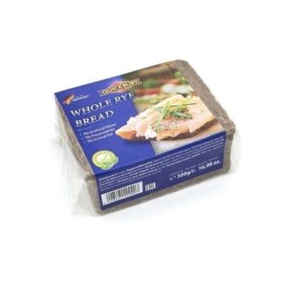 Фото упаковки хлеба Quickbury Vollkorn Whole Rye Bread цельнозерновой 500г