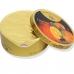 Фото приоткрытой упаковки - жестяной баночки леденцов Cavendish & Harvey вкус сочного апельсина (fruity orange drops) 200г