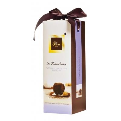 Фото упаковки шоколадных конфет Oliva трюфели ассорти Tartufi 250г