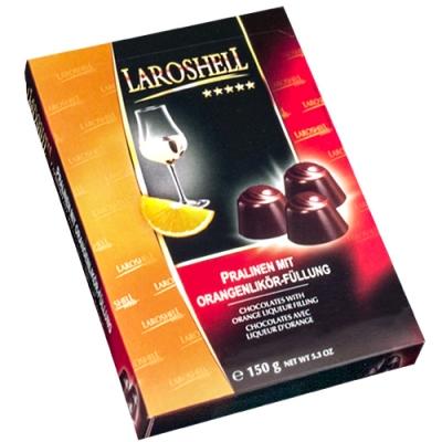 Фото коробки шоколадных конфет Laroshell с апельсиновым ликером 150 грамм