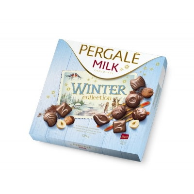 Пергале Зимняя коллекция Молочный шоколад  125 гр
