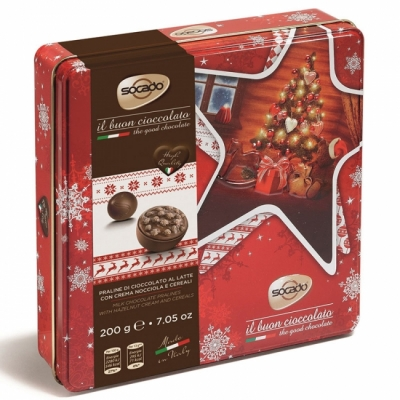 Сокадо Новогодние Звезды шоколадные конфеты    200 гр
