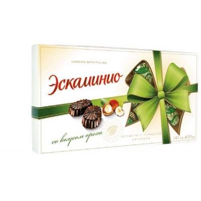 """Шоколадные конфеты Спартак """"Эскаминио"""" вкус ореха 141г"""