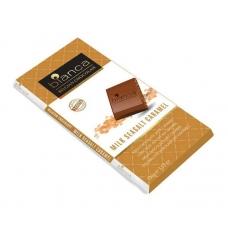 Bianca шоколад  молочный с карамелью (milk seasalt caramel) 100г