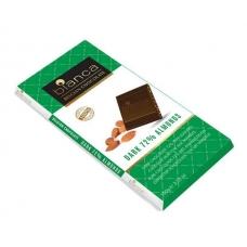 Bianca шоколад  темный  72% с миндалем (dark 72% almonds) 100г