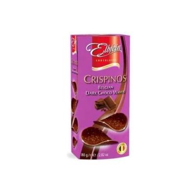 Хрустящий горький шоколад в виде чипсов 80г (Crispinos Dark)