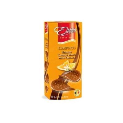 Хруст.молоч.шоколад в виде чипсов со вкус.апельсина 80г (Crispinos Orange)