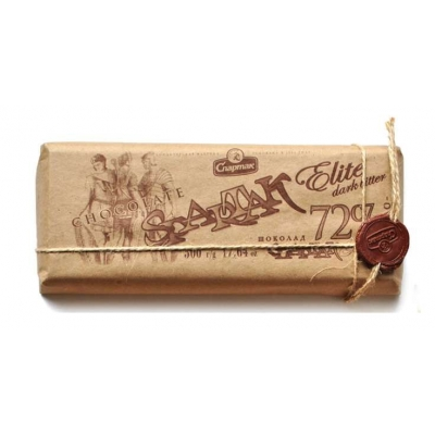 "СПАРТАК Шоколад  ""Горький-элитный"" 72%, эт.крафт 500г"