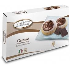 """Печенье Dolciara Ambrosiana """"Джемме"""" с начинкой из крема с какао и лесными орехами (gemme con crema al cacao) 150г"""