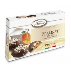 "Печенье в шоколаде Dolciara Ambrosiana ""Пралинати"" с абрикосовой начинкой (pralinati di albicocche) 130г"