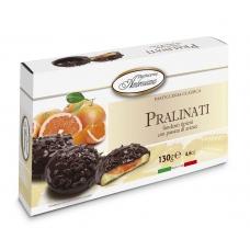 """Печенье в шоколаде Dolciara Ambrosiana """"Пралинати"""" с апельсиновой начинкой (pralinati di arance) 130г"""