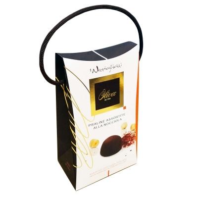 Фото упаковки шоколадных конфет Oliva ассорти пралине с различными начинками Noccioghiotti assortiti 200г