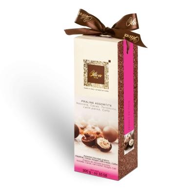 Фото упаковки шоколадных конфет Oliva пралине ассорти Crème d'Or 300г