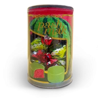 Фото упаковки конфет халва царская в фруктовой глазури со вкусом арбуза  200гр туба