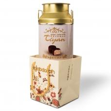 """Конфеты Hajabdollah """"Тиянь Белая"""" из царской халвы в шоколадной глазури со вкусом имбиря 300гр ж/б"""
