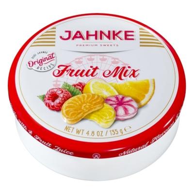 Фото упаковки леденцов Jahnke со вкусами фруктов (fruit mix) 135г