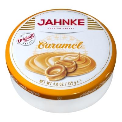 Фото упаковки леденцов Jahnke со вкусом кармели 135г