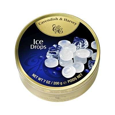 Фото упаковки леденцов Cavendish & Harvey освежающие ледяные (clear ice drops) 200г