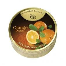Леденцы Cavendish & Harvey сочный апельсин (fruity orange drops) 200г