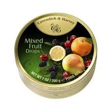 Леденцы Cavendish & Harvey фруктово-ягодное ассорти (mixed fruits drops) 200г