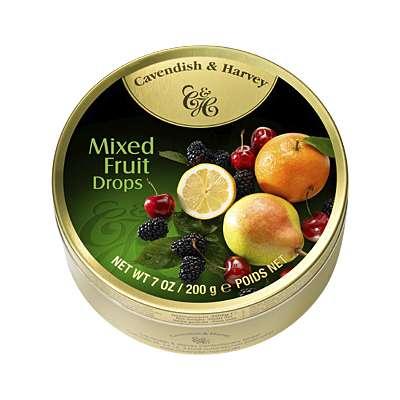 Фото упаковки леденцов Cavendish & Harvey фруктово-ягодное ассорти 200г