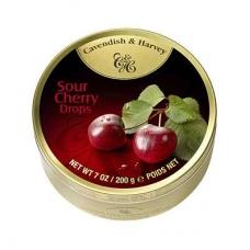 Леденцы Cavendish & Harvey со вкусом кислой вишни (sour cherry drops) 200г