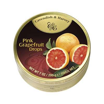 Фото упаковки леденцов Cavendish & Harvey розовый грейпфрут (sour grapefruit drops) 200г