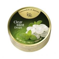 Леденцы Cavendish & Harvey мятные (clear mint drops) 200г