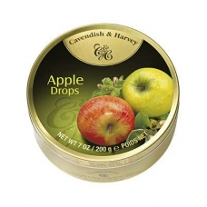 Леденцы Cavendish & Harvey сочное яблоко (juicy apple drops) 200г