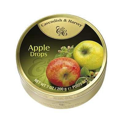 Фото упаковки леденцов Cavendish & Harvey со вкусом сочных яблок (juicy apple drops) 200г