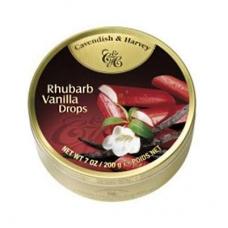 Леденцы Cavendish & Harvey ревень и ваниль (rhubarb vanilla drops) 200г