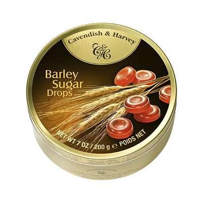 Фото упаковки леденцов ячменный сахар (barley sugar drops) Cavendish & Harvey 200г