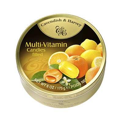 Фото упаковки леденцов Cavendish & Harvey мультивитамин (multivitamin drops filled) 175г