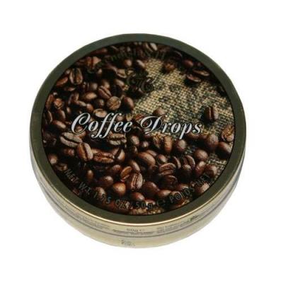 Фото упаковки леденцов Cavendish & Harvey с кофейным вкусом (coffee deluxe drops) 50г