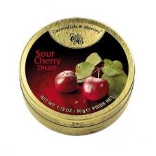 Леденцы Cavendish & Harvey со вкусом кислой вишни (sour cherry drops) 50г