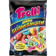 Trolli мармелад Светящиеся Червячки жевательный фасованный Sour Glow Worms 150г