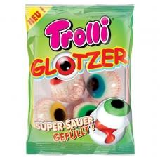 Trolli мармелад Глаза жевательный фасованный с суперкислой жидкой клубничной начинкой Pop Eye 75г