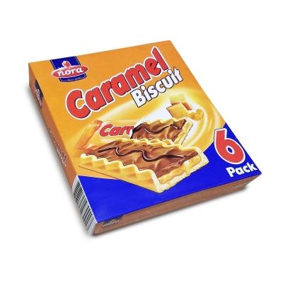 """Нора Печенье  с карамельным кремом и молоч.шоколадом """"Caramel"""" (25г*6) 150г"""