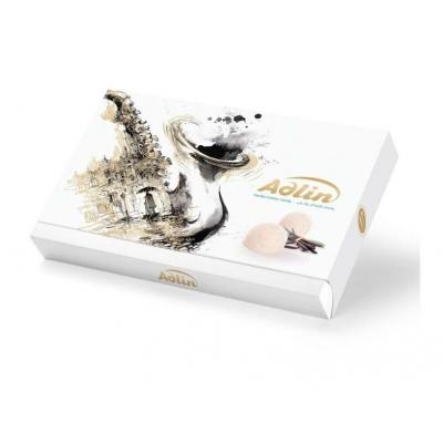 Фото упаковки иранских сладостей царская пашмала Adlin Белая со вкусом ванили 420г
