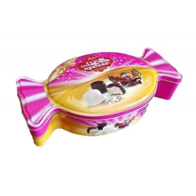 Фото упаковки конфеты Hajabdollah из царской халвы ассорти в шоколадной глазури с ванильным вкусом и в белой глазури с молочным вкусом 450г ж/б