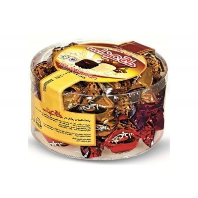 Фото упаковки ПЭТ конфет Hajabdollah Ассорти халва царская в шоколадной глазури 500г