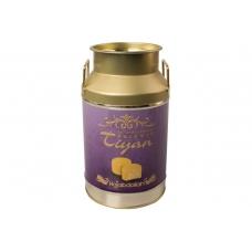 """Конфеты Hajabdollah """"Тиянь Сиреневая"""" из царской халвы в шафрановой глазури со вкусом шафрана и фисташек 300гр ж/б"""