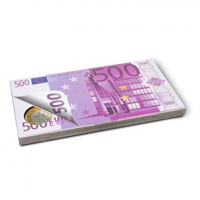 Фото упаковки набора шоколадных монет 500 евро 100г