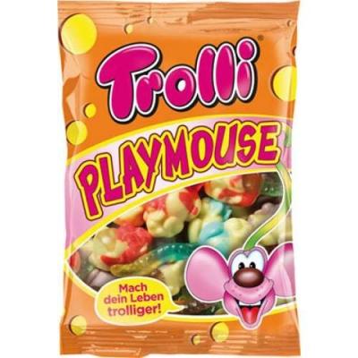 Фотография упаковки конфет маршмеллоу Trolli Сладкие мышки Playmouse 200г