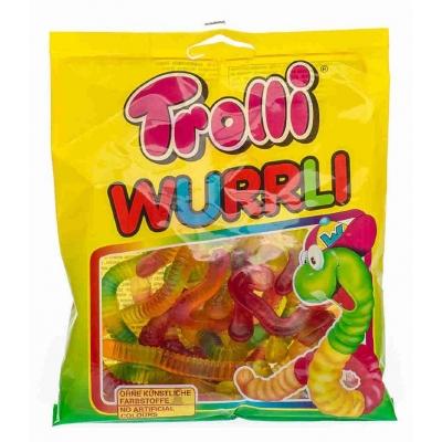Фото упаковки жевательного мармелада Trolli Неоновые Червячки Wurrli фасов