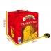 Фото упаковки с размерами кулича панеттоне Италия с изюмом и цукатами 1000г