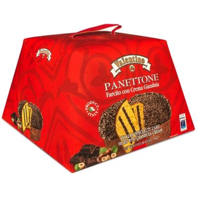 Фото упаковки пасхального кулича панеттоне с шоколадно-ореховым кремом