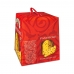 Фото упаковки вид справа панеттоне Италия с изюмом цукатами Valentino 500г
